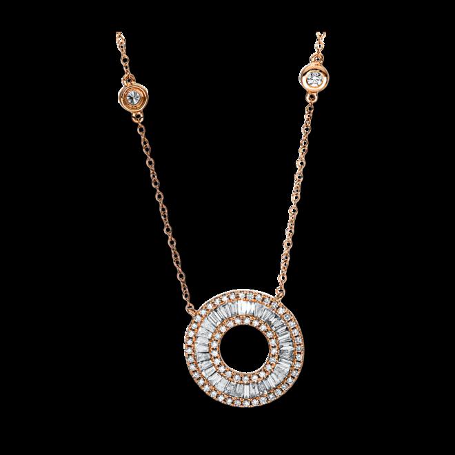 Halskette mit Anhänger Brogle Selection Casual aus 750 Roségold mit 100 Brillanten (1,04 Karat) bei Brogle