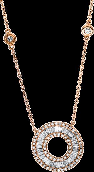 Halskette mit Anhänger Brogle Selection Casual aus 750 Roségold mit 100 Brillanten (1,04 Karat)