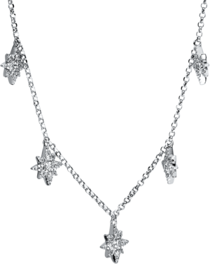 Halskette Brogle Selection Casual aus 750 Weißgold mit 63 Brillanten (0,3 Karat)
