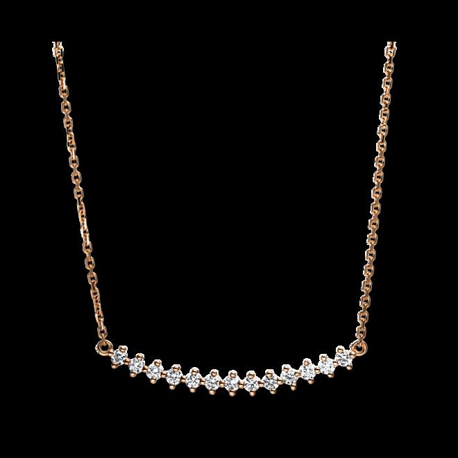 Halskette mit Anhänger Brogle Selection Casual aus 750 Roségold mit 13 Brillanten (0,19 Karat) bei Brogle