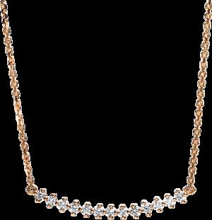 Halskette mit Anhänger Brogle Selection Casual aus 750 Roségold mit 13 Brillanten (0,19 Karat)