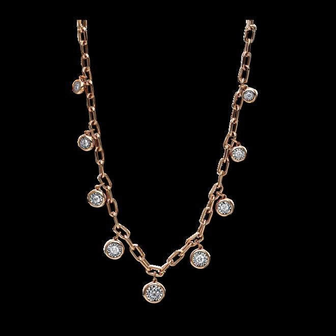 Halskette mit Anhänger Brogle Selection Casual aus 750 Roségold mit 9 Brillanten (0,42 Karat) bei Brogle