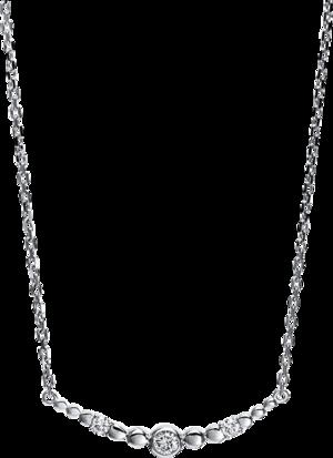 Halskette mit Anhänger Brogle Selection Casual aus 750 Weißgold mit 3 Brillanten (0,5 Karat)