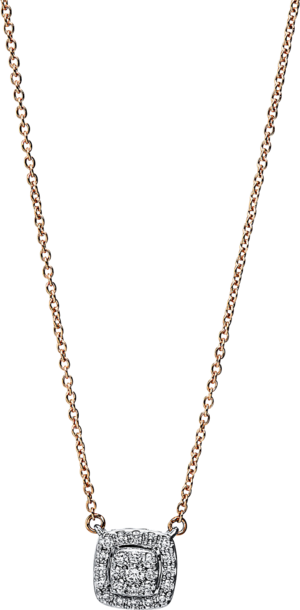 Halskette mit Anhänger Brogle Selection Casual aus 750 Roségold und 750 Weißgold mit 25 Brillanten (0,15 Karat)