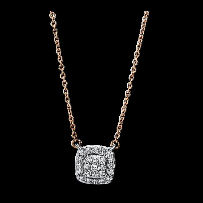 Halskette mit Anhänger Brogle Selection Casual aus 750 Roségold und 750 Weißgold mit 25 Brillanten (0,15 Karat) bei Brogle
