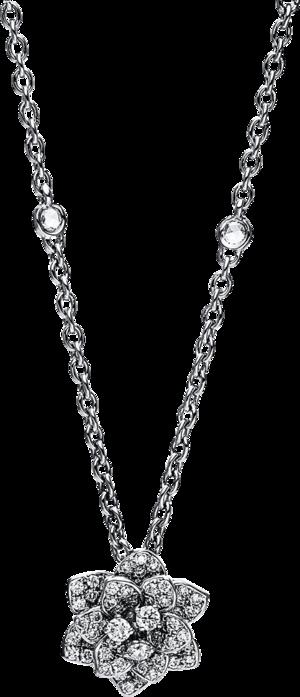Halskette mit Anhänger Brogle Selection Casual aus 750 Weißgold mit 76 Brillanten (0,93 Karat)