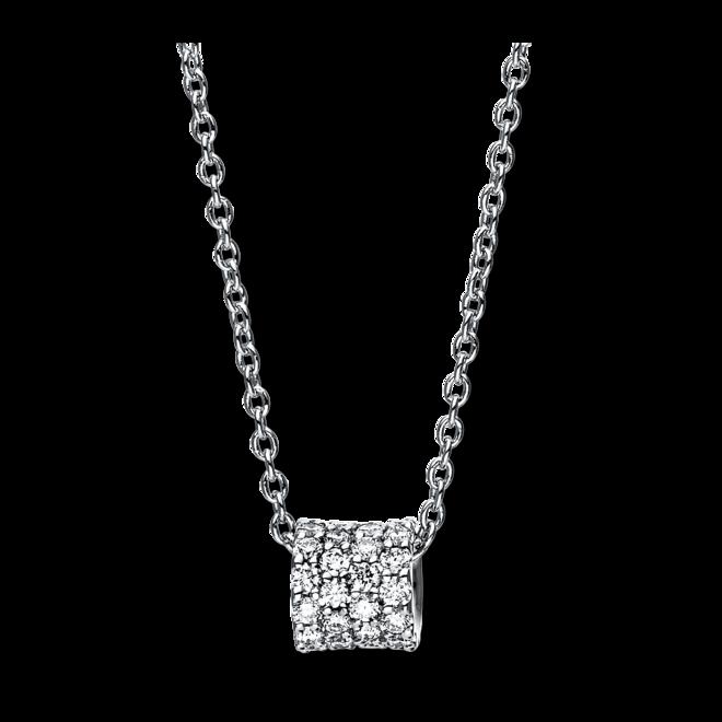 Halskette mit Anhänger Brogle Selection Casual aus 750 Weißgold mit 48 Brillanten (0,21 Karat) bei Brogle