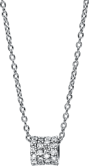 Halskette mit Anhänger Brogle Selection Casual aus 750 Weißgold mit 48 Brillanten (0,21 Karat)