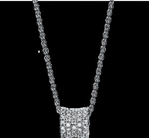 Halskette mit Anhänger Brogle Selection Casual aus 750 Weißgold mit 43 Brillanten (0,17 Karat)