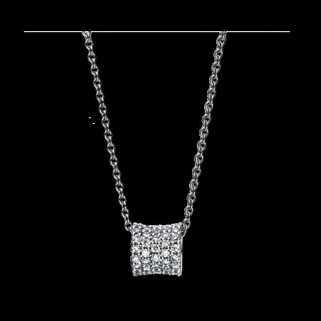 Halskette mit Anhänger Brogle Selection Casual aus 750 Weißgold mit 43 Brillanten (0,17 Karat) bei Brogle