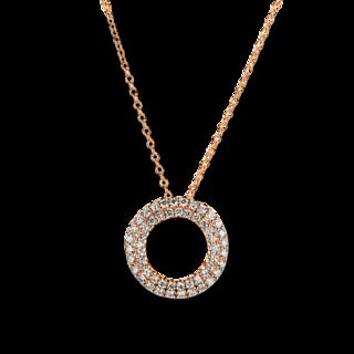 Brogle Selection Halskette mit Anhänger Casual Kreis 4A764R8-12