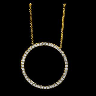 Brogle Selection Halskette mit Anhänger Casual Kreis 4C565G8