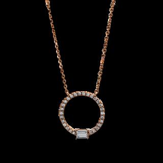 Brogle Selection Halskette mit Anhänger Casual Kreis 4C942R8-1