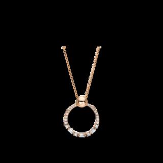 Brogle Selection Halskette mit Anhänger Casual Kreis 4F390R8-1