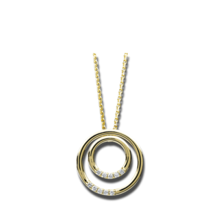 Brogle Selection Halskette mit Anhänger Casual Kreise 4B351G4-1