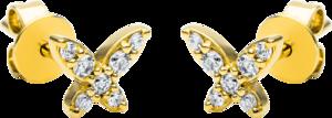 Ohrstecker Brogle Selection Casual aus 750 Gelbgold mit 14 Brillanten (2 x 0,08 Karat)
