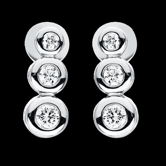 Ohrstecker Brogle Selection Casual aus 750 Weißgold mit 6 Brillanten (2 x 0,115 Karat) bei Brogle