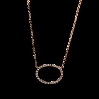 Brogle Selection Halskette mit Anhänger Casual Oval 4E277R8-1