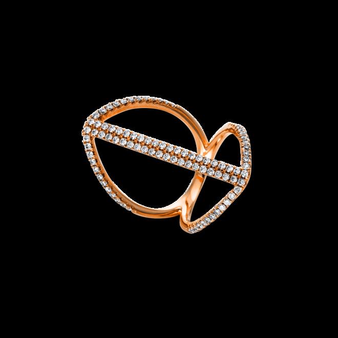 Ring Brogle Selection Casual aus 750 Roségold mit 92 Brillanten (0,93 Karat) bei Brogle