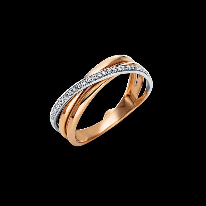 Ring Brogle Selection Casual aus 585 Roségold und 585 Weißgold mit 26 Brillanten (0,1 Karat) bei Brogle