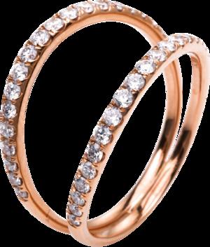 Ring Brogle Selection Casual aus 750 Roségold mit 38 Brillanten (0,61 Karat)