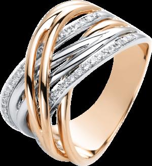 Ring Brogle Selection Casual aus 750 Roségold und 750 Weißgold mit 46 Brillanten (0,22 Karat)