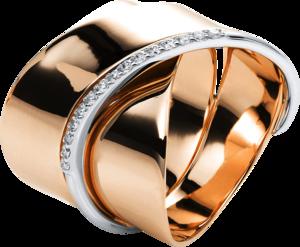 Ring Brogle Selection Casual aus 750 Roségold und 750 Weißgold mit 15 Brillanten (0,14 Karat)
