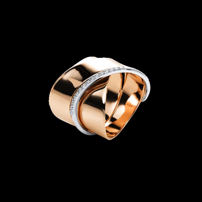 Ring Brogle Selection Casual aus 750 Roségold und 750 Weißgold mit 15 Brillanten (0,14 Karat) bei Brogle
