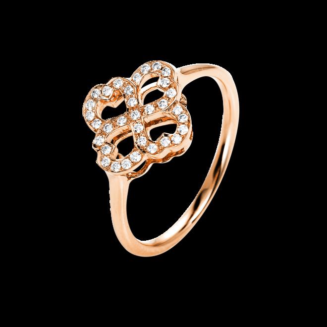 Ring Brogle Selection Casual aus 750 Roségold mit 33 Brillanten (0,14 Karat) bei Brogle