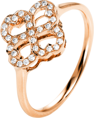 Ring Brogle Selection Casual aus 750 Roségold mit 33 Brillanten (0,14 Karat)