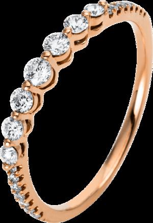 Ring Brogle Selection Casual aus 750 Roségold mit 21 Brillanten (0,31 Karat)