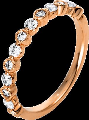 Ring Brogle Selection Casual aus 750 Roségold mit 13 Brillanten (0,37 Karat)