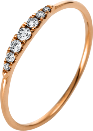 Ring Brogle Selection Casual aus 750 Roségold mit 7 Brillanten (0,1 Karat)
