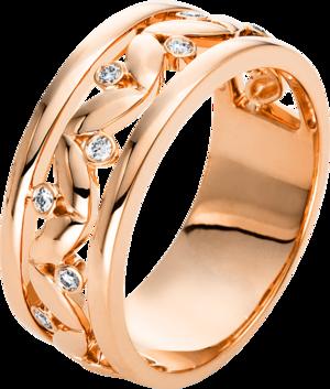 Ring Brogle Selection Casual aus 750 Roségold mit 8 Brillanten (0,09 Karat)