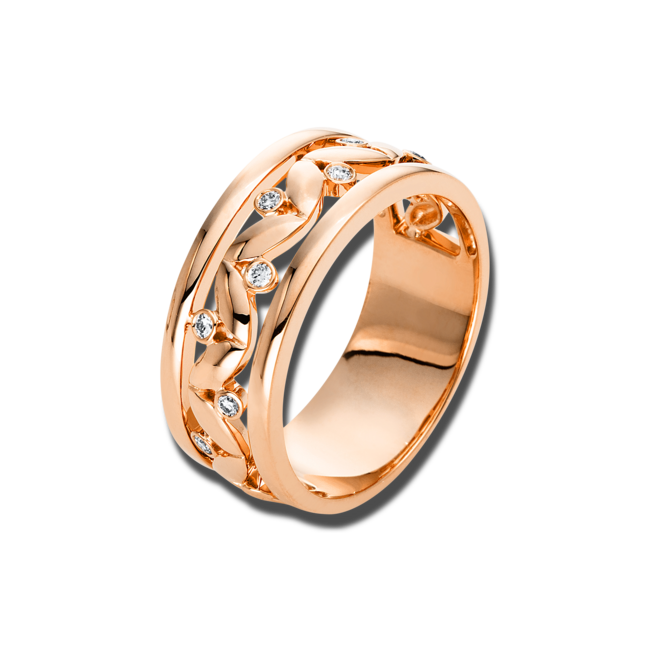 Ring Brogle Selection Casual aus 750 Roségold mit 8 Brillanten (0,09 Karat) bei Brogle