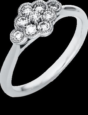 Ring Brogle Selection Casual aus 950 Platin mit 9 Brillanten (0,34 Karat)