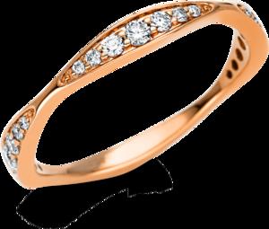 Ring Brogle Selection Casual aus 750 Roségold mit 21 Brillanten (0,27 Karat)