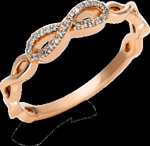 Ring Brogle Selection Casual aus 750 Roségold mit 26 Diamanten (0,07 Karat)