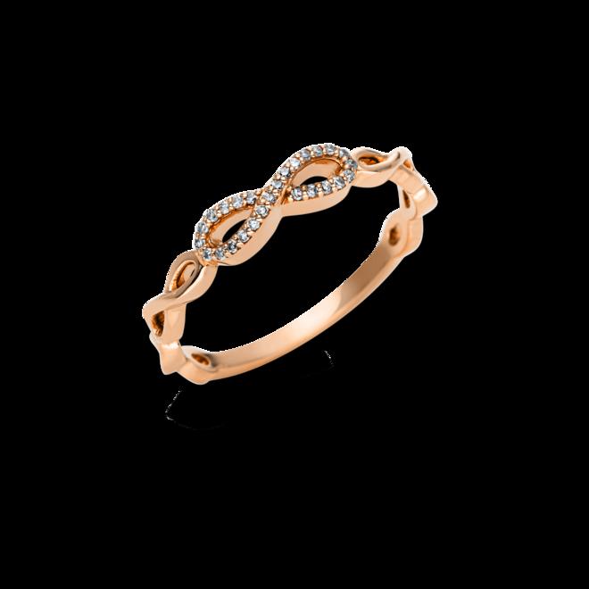 Ring Brogle Selection Casual aus 750 Roségold mit 26 Diamanten (0,07 Karat) bei Brogle