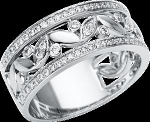 Ring Brogle Selection Casual aus 750 Weißgold mit 90 Brillanten (0,42 Karat)