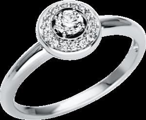 Ring Brogle Selection Casual aus 750 Weißgold mit 17 Brillanten (0,25 Karat)