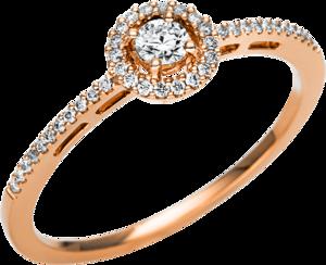 Ring Brogle Selection Casual aus 750 Roségold mit 41 Brillanten (0,22 Karat)