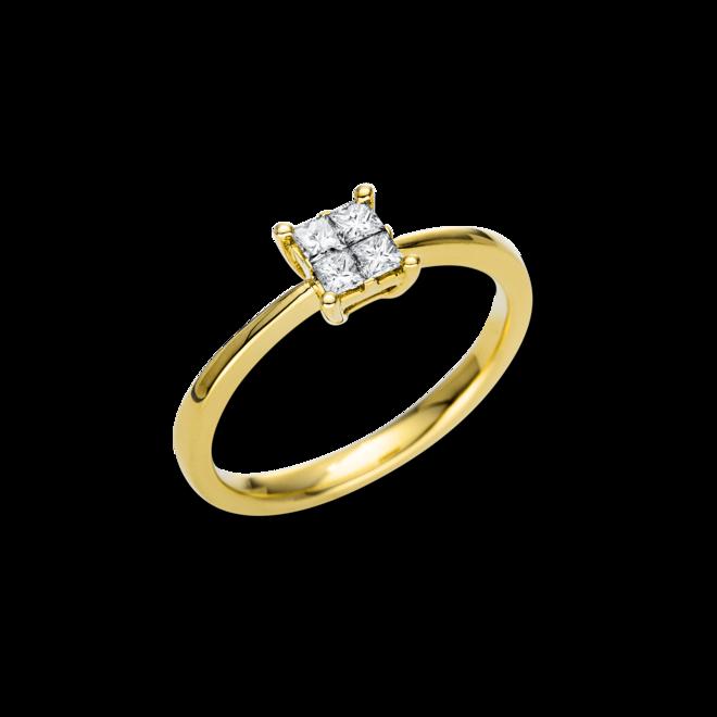 Ring Brogle Selection Casual aus 750 Gelbgold mit 4 Diamanten (0,25 Karat) bei Brogle