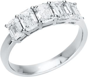 Ring Brogle Selection Casual aus 750 Weißgold mit 5 Diamanten (2,01 Karat)