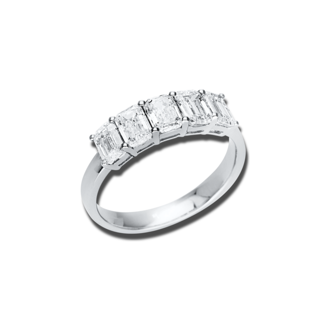 Ring Brogle Selection Casual aus 750 Weißgold mit 5 Diamanten (2,01 Karat) bei Brogle
