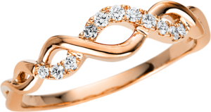 Ring Brogle Selection Casual aus 750 Roségold mit 11 Brillanten (0,12 Karat)