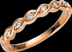Ring Brogle Selection Casual aus 750 Roségold mit 8 Brillanten (0,1 Karat)