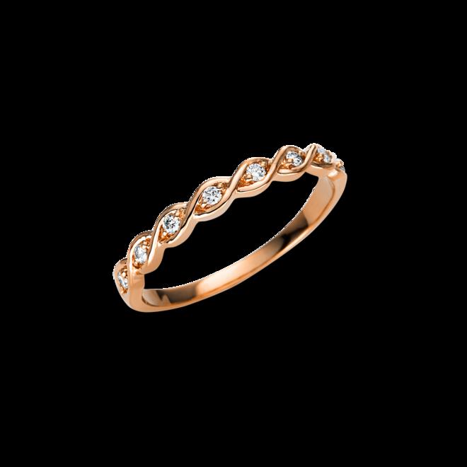 Ring Brogle Selection Casual aus 750 Roségold mit 8 Brillanten (0,1 Karat) bei Brogle
