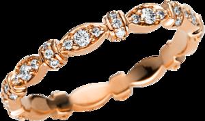 Ring Brogle Selection Casual aus 750 Roségold mit 54 Brillanten (0,32 Karat)