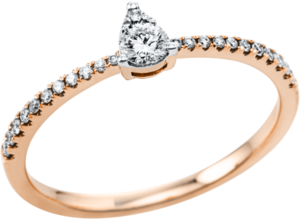 Ring Brogle Selection Casual aus 750 Roségold mit 24 Brillanten (0,24 Karat)